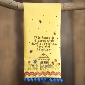 Natural Life Blessed House Linen Towel