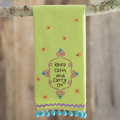 Natural Life Linen Towel - Keep Calm and Carry On