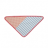 Organic Farm Buddies Bandana Bib - Blue Stripes