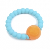 Chewbeads Mercer Turquoise Rattle
