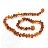 Amber Goose Teething Necklace - Cognac