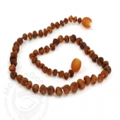 Amber Goose Teething Necklace - Raw Cognac