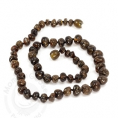 Amber Goose Teething Necklace - Olive