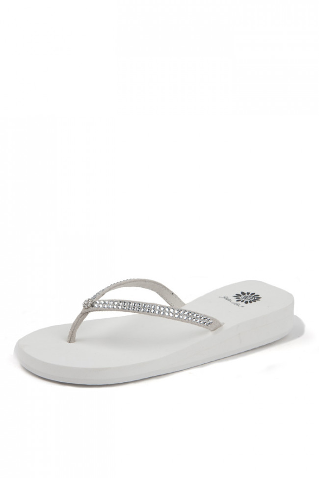Yellow Box Jello White Women's Sandals