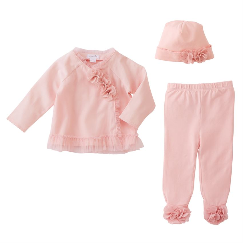 Mud Pie Pink Mesh Take-Me-Home Set