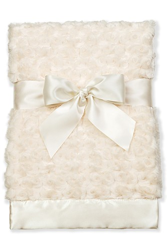 Bearington Cream Swirly Snuggle Blanket