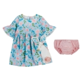 Mud Pie Bunny Dress & Bloomer Set