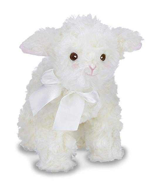 Bearington Lil' Blessing White Lamb Plush