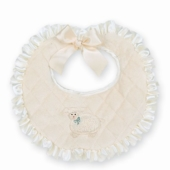 Bearington Cream Baa Baa Baby Bib